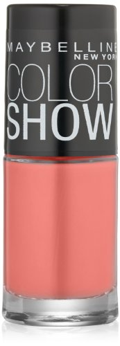 Maybelline New York Color Show Nail Lacquer, Coral Crush, 0.23 Fluid Ounce