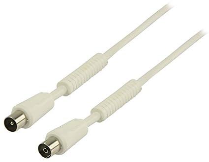 Valueline VLSP40010W15 1.5m Coaxial Coaxial Blanco - Cable coaxial (Coaxial, Coaxial, Cobre