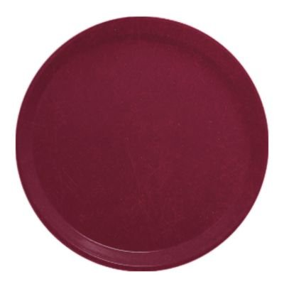 - Serving Camtray, Round, 11'' Diameter, Fiberglass, Aluminum Reinforced Rim, Burgundy Wine, Nsf (12 Pieces/Unit)