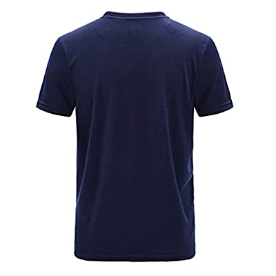Men's Sport T-Shirt, Quick Dry Fit Athletic Short Sleeve Workout Fitness Gym Running Compression Baselayer T-Shirts: Clothing