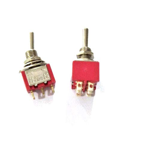 200pcs/Lot DPDT Momentary Miniature Rocker Toggle Switch (ON)-Off-(ON) 2A/250VAC 5A/125VAC by IndustrialField