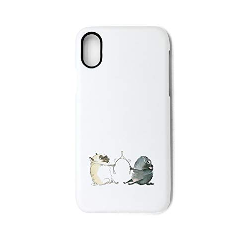 KylA Forster. iPhone X case.Wishbone Pug Dog Gifts Shock Absorption TPU Cover Case Drop Protection Phone Case for iPhone X