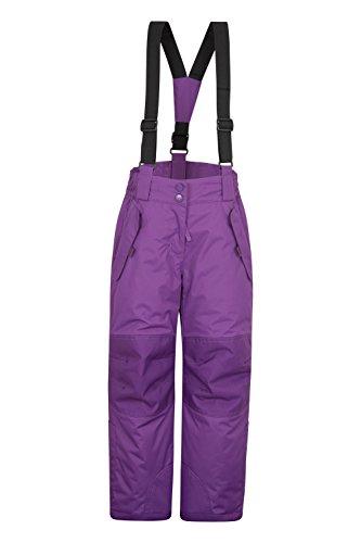 Mountain Warehouse Honey Kids Snow Pants - Ski Bibs, Suspenders Grape 5-6 Years