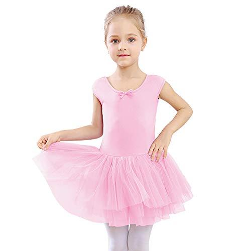 STELLE Toddler/Girls Tank Tutu Dress Leotard for Dance, Gymnastics and Ballet (BP2-Tutu, -