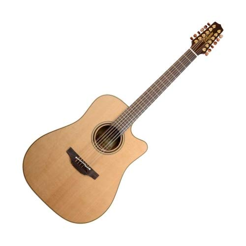 (Takamine Pro Series 3 P3DC-12 Dreadnought Body 12-String Acoustic Electric Guitar with Case, Natural)