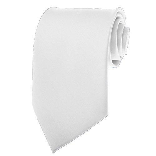 BRAND NEW Mens Necktie SOLID Satin Neck Tie Coral White