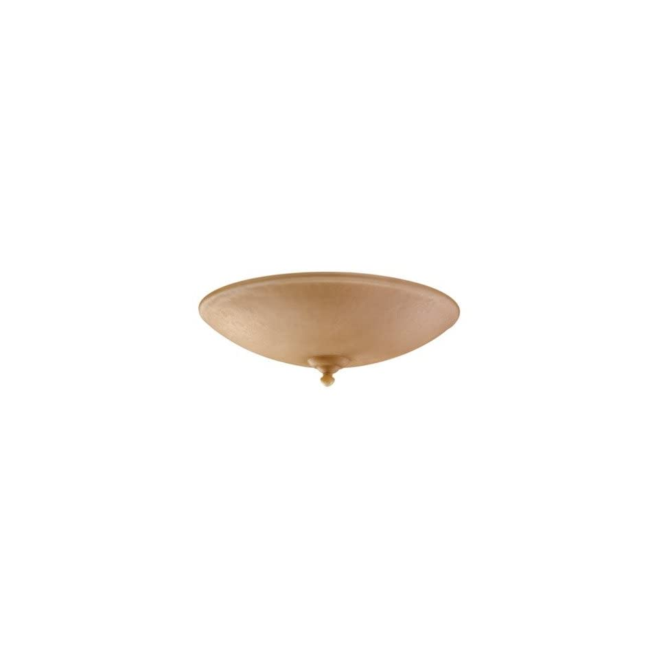 Monte Carlo Fan Company MC200 L Ceiling Fan Large Bowl Light Kit with Tea Stain Mission Glass