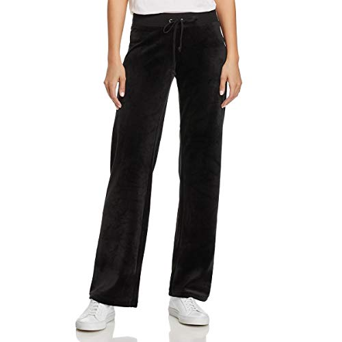 Juicy Couture Women's Track Luxe Velour Mar Vista Pants Pitch Black Petite/X-Small 31 (Juicy Tracksuit Couture Black)