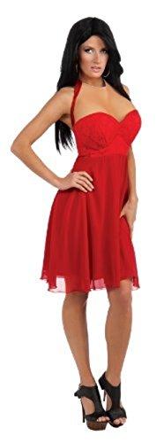Jersey Shore Halloween - Jersey Shore Jwoww Womans S/Med 6-12 Red Dress Costume w Breast Enhancements
