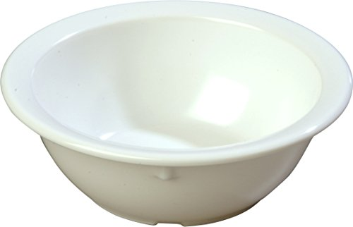 Carlisle KL11902 Kingline Rimmed Nappie Bowl 12.5 oz, 5.5'' - White (48 PER CASE) (Kingline Bowl Nappie)