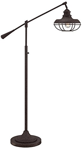 Franklin Park II Industrial Boom Rust Floor Lamp by Franklin Iron Works