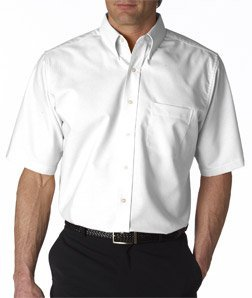 UltraClub mens Classic Wrinkle-Free Short-Sleeve Oxford(8972)-WHITE-2XL (Classic Oxford Oxford Shirt)