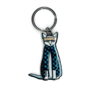 Cali's, Pretty In Ink Gato Cholo, Officially Licensed Artwork - Metal Keychain 1