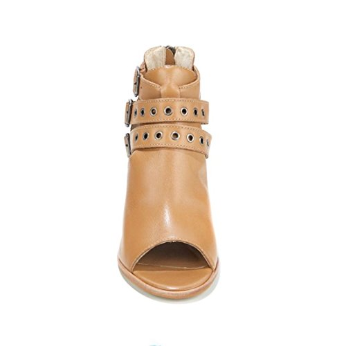 Diego Di Lucca Royalty Leer Back-zip Shootie 531-235 Natural