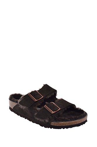 Birkenstock Women's Arizona Shearling Sandal Mocha-Mocha Suede Size 39 M EU (Birkenstock 39 Size Clog)