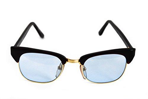 Roberto Elliot Sunglasses Frame SM-SETH Brown/Gold Sky Blue Lens 48-20-137 Made in - Sunglasses Seth