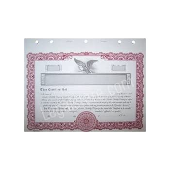 Amazoncom Blank Membership Certificates With Stubs For Limited - Llc stock certificate template