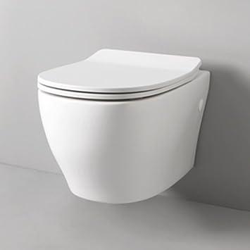 Wandhangendes Wc Bad Design Ten 4 0 In Keramik Weiss 36 X 52 Cm