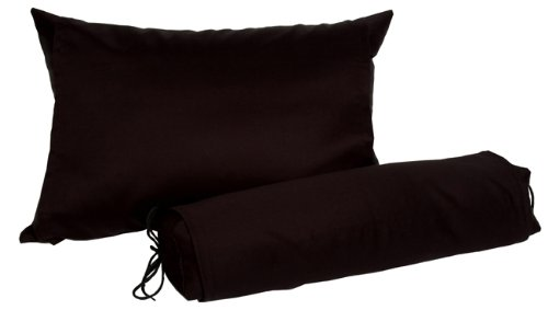 J-Life Buckwheat Hull Neck Roll Pillow - Japanese Soba Gara Makura - Cylindrical 3.5