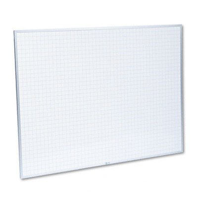 Magna Visual PBFG-6 Magna Visual Planning Board, 1x1 Grid, Porcelain-On-Steel, 48 x 36, Blue/White