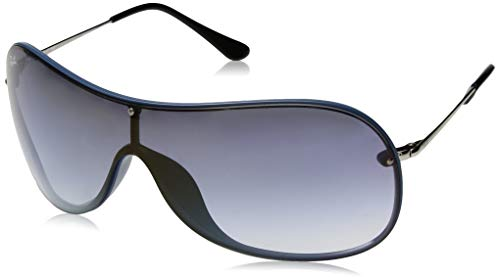 Ray-Ban RB4411 Aviator Sunglasses, Blue Demigloss/Blue Gradient Mirror, 41 ()