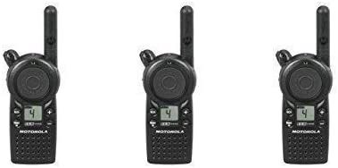 3 Pack of Motorola CLS1410 1 Watt Business Two-Way Radio with 4 Channels 121 Interference Codes 5 mile range