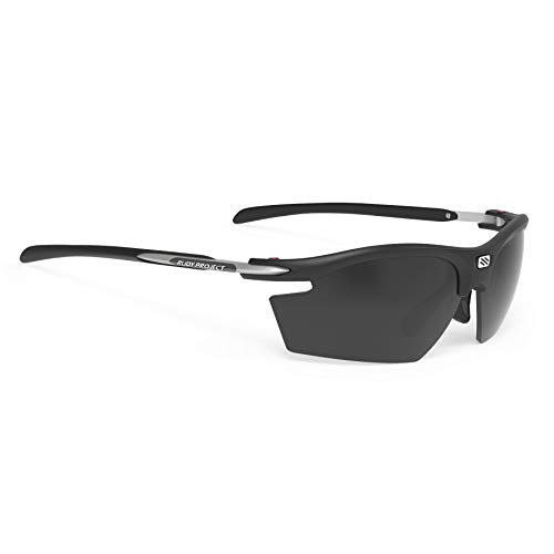 RUDY PROJECT 2019 Rydon Sports Cycling Sunglasses - Stealth Matte Black Frame - Smoke Black ()