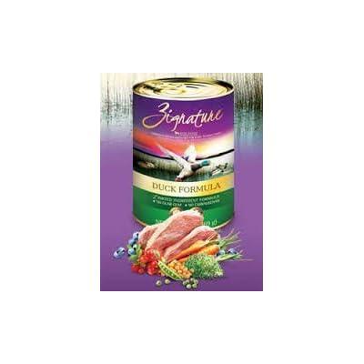 Zignature Grain Free Duck Canned Dog Food 12/13oz