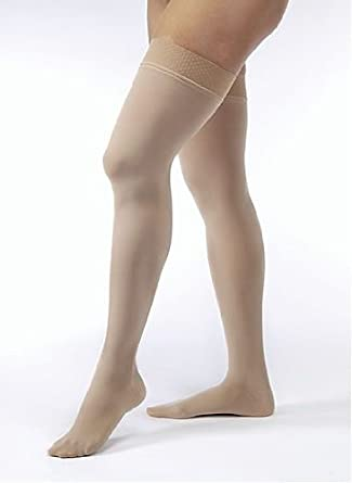 985d6096f3 Amazon.com: BSN Medical/Jobst 115275 Opaque Compression Hose, Thigh High,  20-30 mmHg, Closed Toe, Medium, Natural: Industrial & Scientific