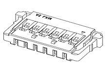(Headers & Wire Housings PicoLock 1.5 W/B REC HOUSING 6P (50 pieces))