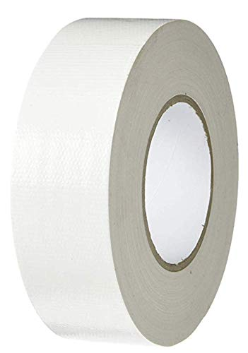 T.R.U. CDT-36 Industrial Grade Duct Tape. Waterproof and UV Resistant. Multiple Colors Available. 60 Yards. (White, 4 in.)