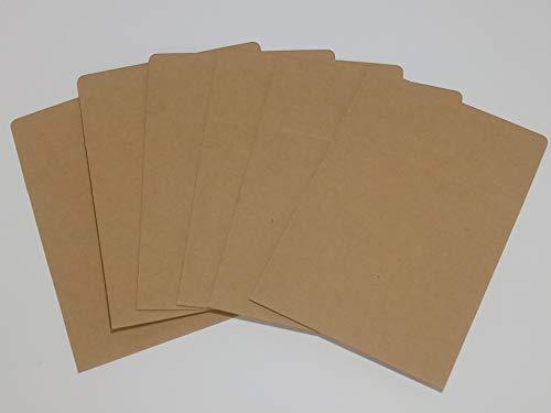 Kbnian 50 Packs CD Sleeves Kraft Paper CD Paper Storage Holder Case, Empty DVD Envelopes Blank Packaging Bags for CD, Brown(4.9 x 4.9 inches)