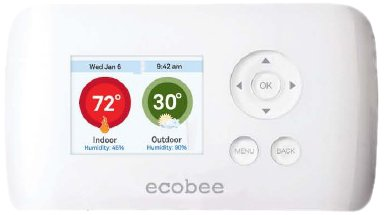 ecobee Smart Si Thermostat 2 Heat-2 Cool with Full Color NON-Touch Screen