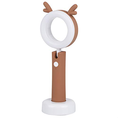 Accering Small LED Book Light with USB Charging Port, 3-Level Dimmer Desk Lamp for Reading/Relaxation/Bedtime, Eye-Friendly Night Light for Kids with Dual Light Source, Best Kids Christmas Gifts