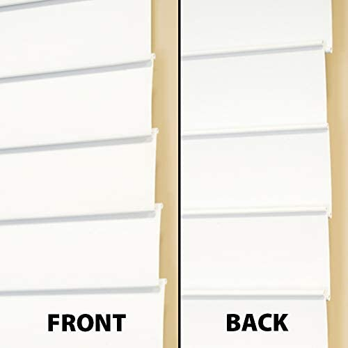 Lumino Faux Wood Flat Slat 2 inch Cordless Room Darkening Blinds in White – 35 x 64 Over 250 Add l Custom Cut Sizes – Starting at 13.49