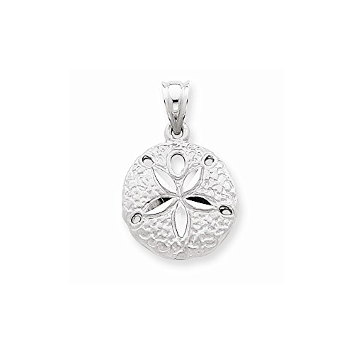 14k White Gold Sanddollar Charm by Nina's Jewelry Box