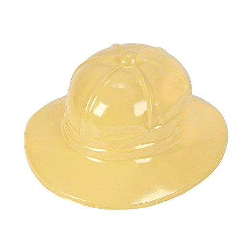 Plastic Yellow Safari Hat pack