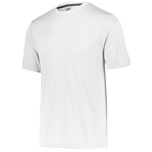 Russell Athletic Boys' Youth Short Sleeve Performance Tee, White, Medium