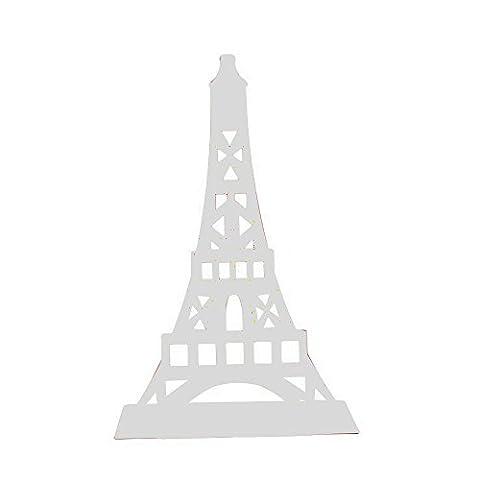 CHQ Eiffel Tower Nonskid Bookends Art Bookend,1 Pair (White) (Eiffel Tower Dvd Tower)