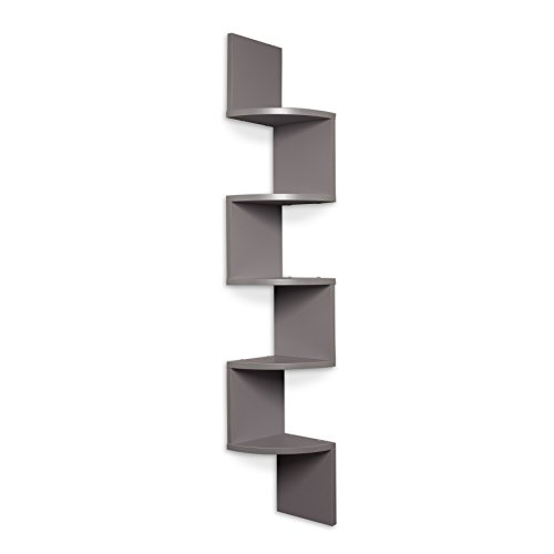 Danya b large grey laminate zig zag corner wall mount shelf buy online in uae kitchen - Danya b corner shelf ...