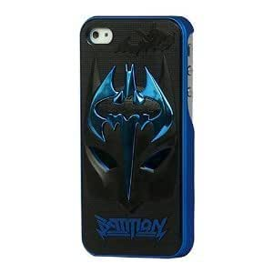 Plating Blue Ghostly Bats Sword Black Mask Hard Case Batman Skin Cover For iPhone 5 5S by icecream design