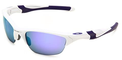Oakley Men's Non-Polarized Half Jacket 2.0 Oval Sunglasses,Pearl Frame/Violet Iridium Lens,One