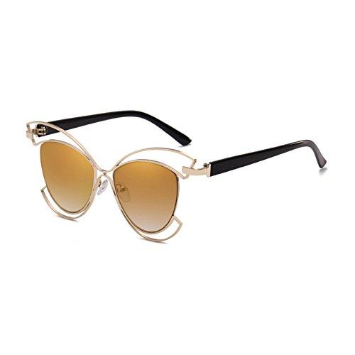 Gato único Gafas Gafas C diseñador Marca de UV400 Oval Lente Vintage Sol para metálico de Burenqi de Mujer Sol Bastidor Ojo de B Medio Moda EZnp4xnqO