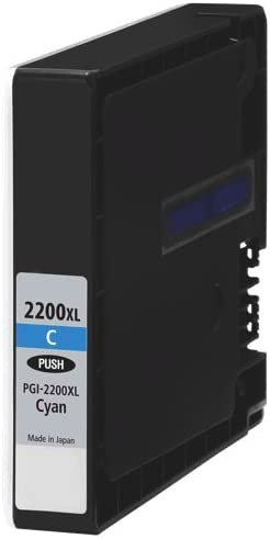 1500 Page Yield SuppliesMAX Compatible Replacement for Canon MAXIFY iB-4020//4120//MB-5020//5120//5320//5420 Cyan High Yield Inkjet PGI-2200C