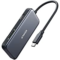 Anker 5-in-1 USB C Adapter with 4K USB C to HDMI, SD/TF Card Reader, 2 USB 3.0 Ports for MacBook Pro, Chromebook, XPS and More