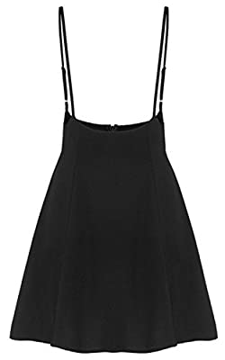 JOKHOO Women's Suspender Skirts Basic High Waist Versatile Flared Skater Skirt