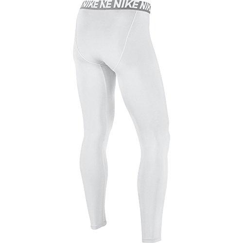 NIKE Men's Base Layer Training Tights, White/Matte Silver/White/Black, Medium by Nike (Image #2)