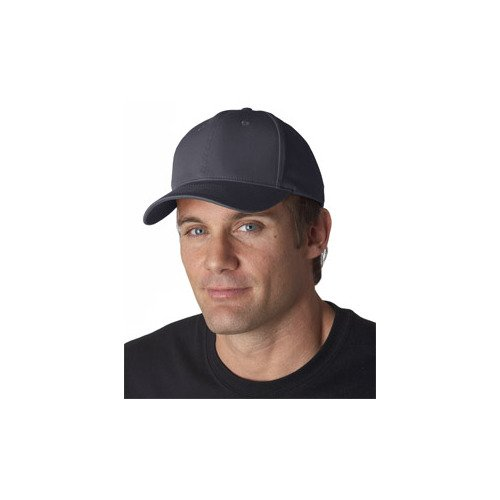 Ultraclub 8101 Solid Cotton Cap - Charcoal - One ()