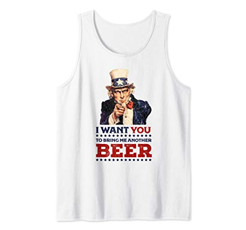 Uncle Sam I want you to bring me another beer 4th of July Tank Top