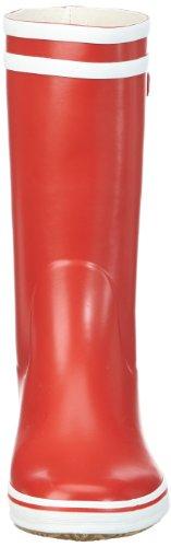 Aigle Femme Malouine Bt Botte Rouge / Blanc